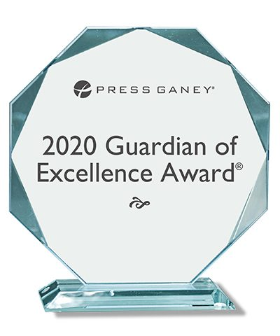 Press Ganey 2020 Guardian of Excellence Award